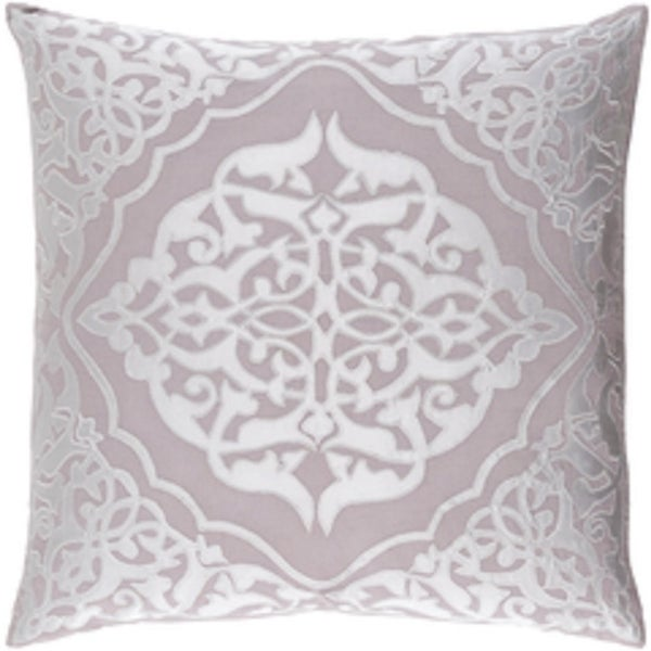 """20"""" Platinum Gray and Cool Gray Woven Patterned Decorative Throw Pillow- Down Filler"""