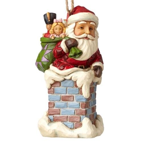 Santa in Chimney Ornament