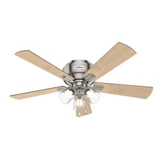 "Link to Hunter 52"" Crestfield Low Profile Ceiling Fan with LED Light Kit and Pull Chain Similar Items in Ceiling Fans"