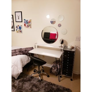 """Round Wall Mirror Mounted Assorted Sizes - Silver - 1 large 10"""" , 3 medium 7"""" , 3 small 4"""" ,set of 7"""
