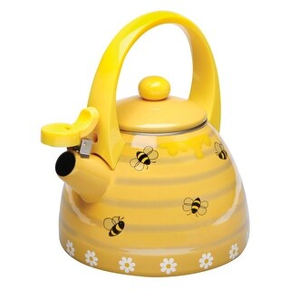 Yellow Honey Bees Whistling Stainless Steel Tea Kettle