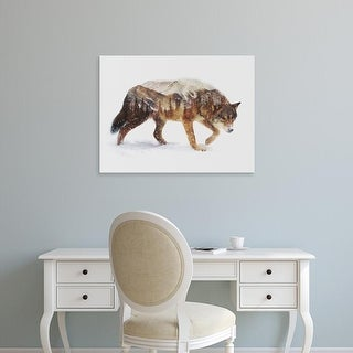 Easy Art Prints Andreas Lie's 'Arctic Wolf' Premium Canvas Art