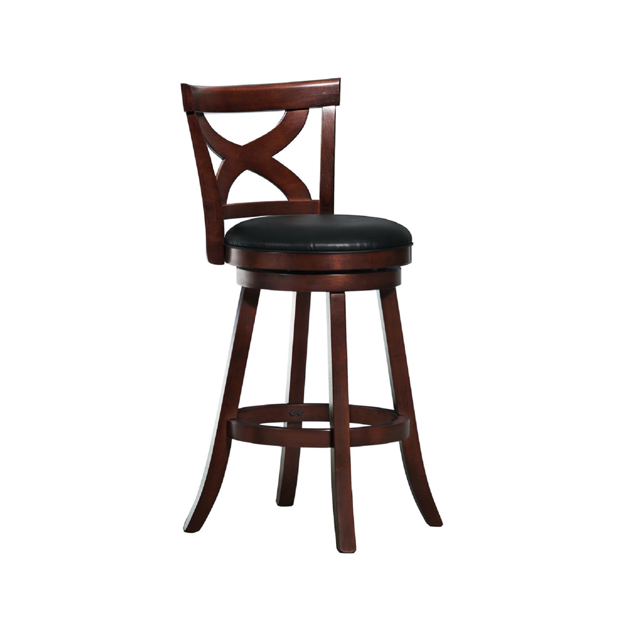 Crosby Cherry X Back 29 Inch Swivel High Back Barstool By Inspire Q Classic On Sale Overstock 6523014