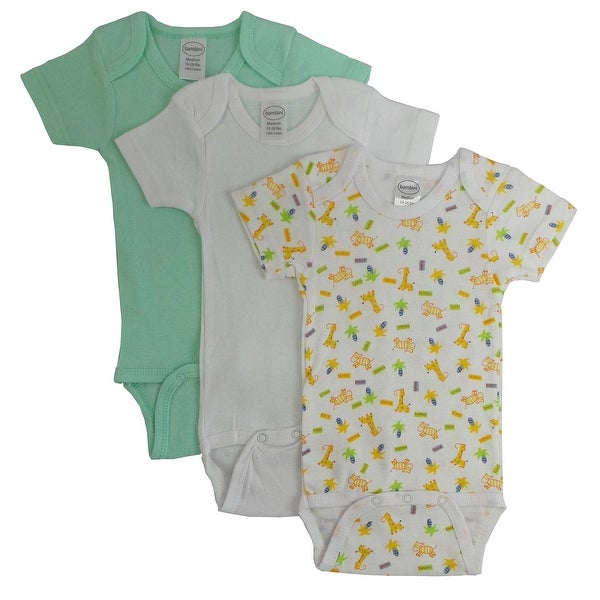 Bambini Boys' Printed Short Sleeve Variety Pack - Size - Newborn - Boy