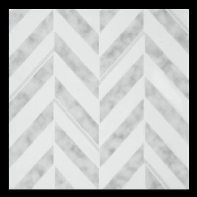 Retro Self Adhesive Vinyl Floor Tile - Chevron - 20 Tiles/20 sq. ft.