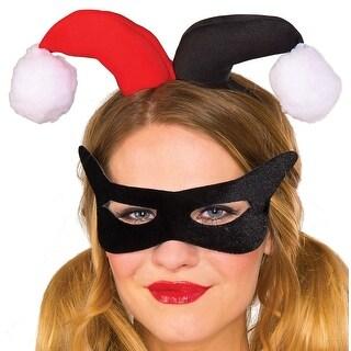 Harley Quinn Adult Eyemask/Headpiece Kit Costume Accessory