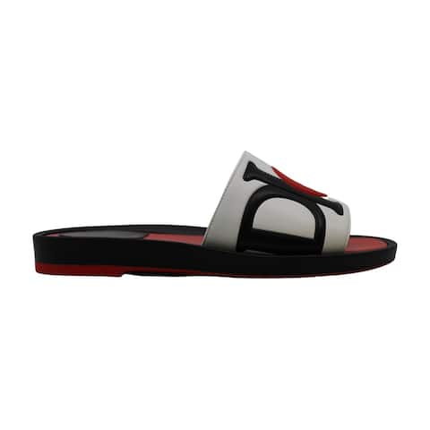Christian Dior Womens Dior marina Leather Open Toe Casual Slide Sandals