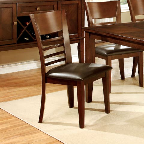 Furniture of America Rons Contemporary Dining Chairs (Set of 2)