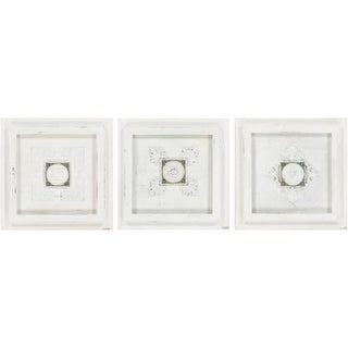 """Set of 3 Garden Stone Hand Painted Canvas Wall Art 18"""""""