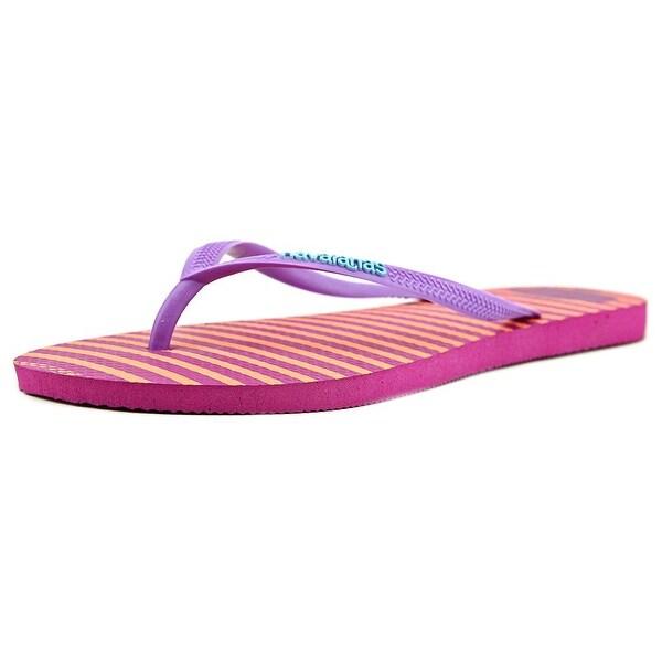 Havaianas Slim Retro Women  Open Toe Synthetic Pink Flip Flop Sandal