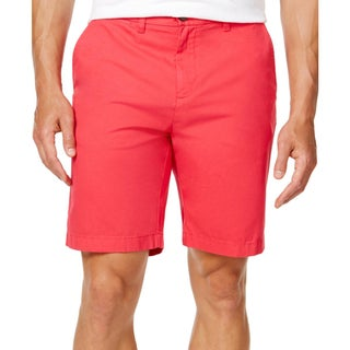 Tommy Hilfiger Mens Khaki, Chino Shorts Classic Fit Flat Front