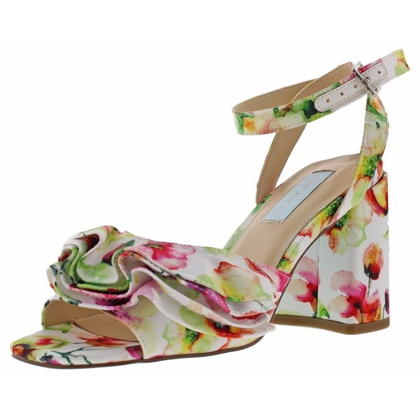 Betsey Johnson Flirt Women's Floral Heel Dress Sandals
