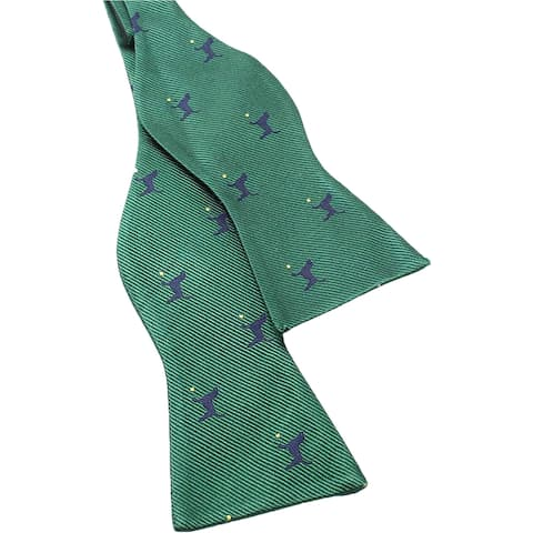 Tommy Hilfiger Mens Playing Dog Self-Tied Bow Tie - One Size