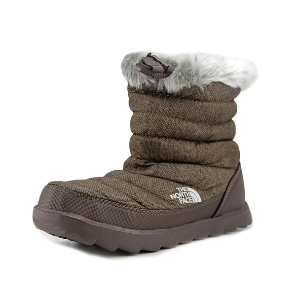 The North Face Thermoball Micro-Baffle Bootie Women Canvas Brown Snow Boot