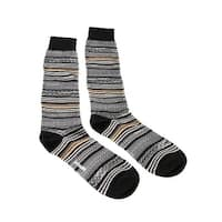 Missoni GM00CMU5236 0004 Gray/Black Knee Length Socks - Grey