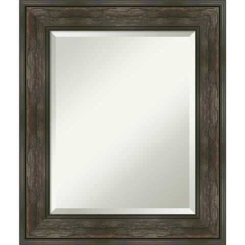 Rail Rustic Char Bathroom Vanity Wall Mirror