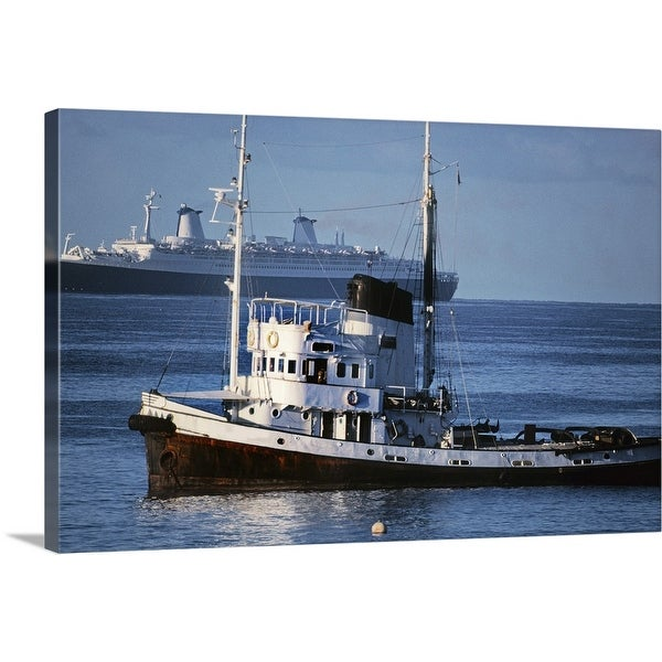 """""""Ships in the sea"""" Canvas Wall Art"""