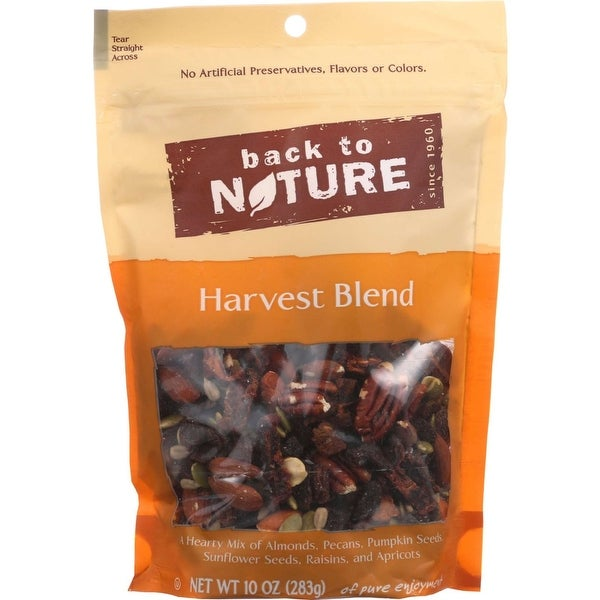 Back To Nature Nuts - Harvest Blend - 10 oz - case of 9