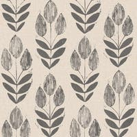 Brewster 2535-20651 Scandinavian Black Block Print Tulip Wallpaper - N/A