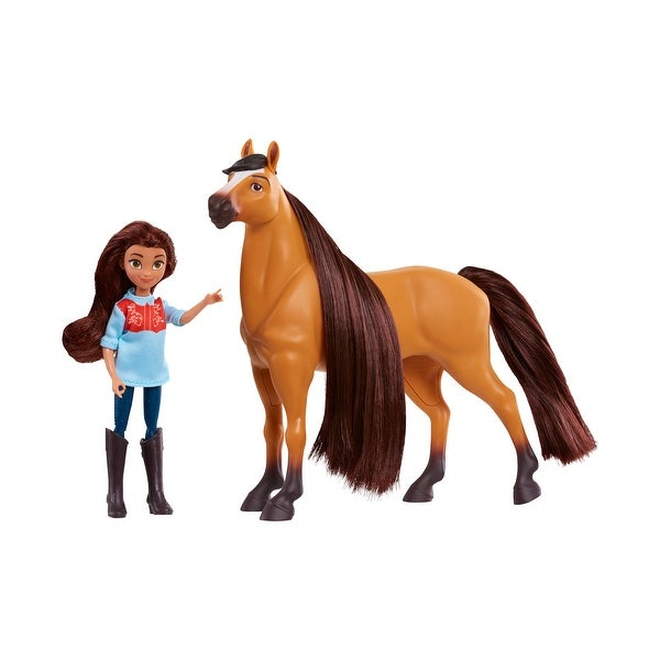 DreamWorks Spirit Riding Free Collector Doll & Horse - Lucky & Spirit. Opens flyout.