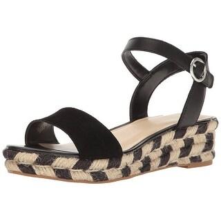 Nine West Womens Allium Leather Open Toe Casual Espadrille Sandals