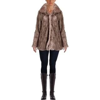 Weatherproof Womens Faux Fur Collared Jacket - L