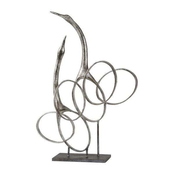 """19.25"""" Admiration Silver Bird Sculpture - N/A"""