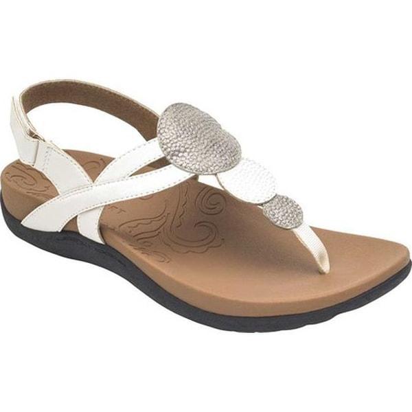 8c9fd0ee2 Shop Rockport Women s Ridge Circle Thong Sandal White Leather - Free ...