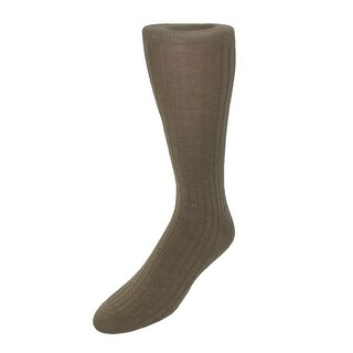 Windsor Collection Men's Merino Wool Mid Calf Dress Socks (Option: Khaki - One size)