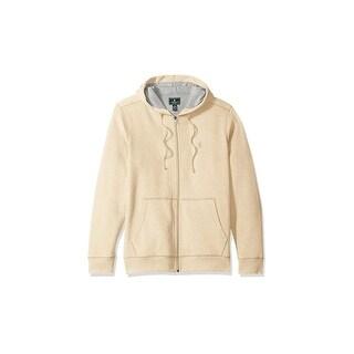 G.H. Bass & Co. Light Beige Mens Size XL Full Zip Hoodie Sweater
