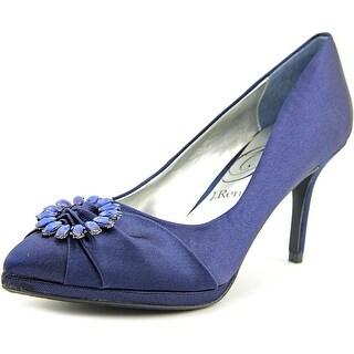 J. Renee Blinda Women Pointed Toe Canvas Blue Heels