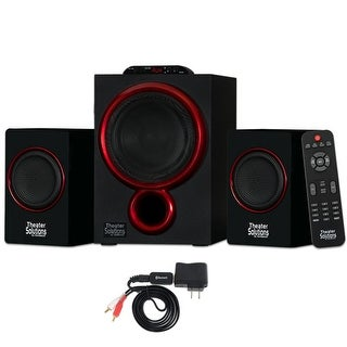 Theater Solutions TS212 Powered 2.1 Speaker System Home Multimedia with Bluetooth