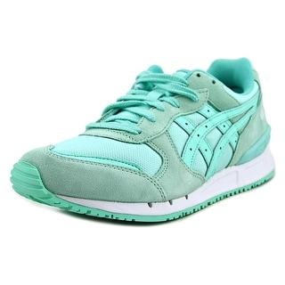 Asics Gel Respector Women Round Toe Suede Blue Sneakers