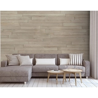 """Link to HighlanderHome Peel & Stick Solid Wood Wall Panel,5"""" x 48""""/pc Similar Items in Wall Coverings"""