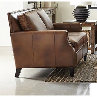 Link to Gunderson Brown Sugar Upholstered Recessed Arms Loveseat Similar Items in Living Room Furniture