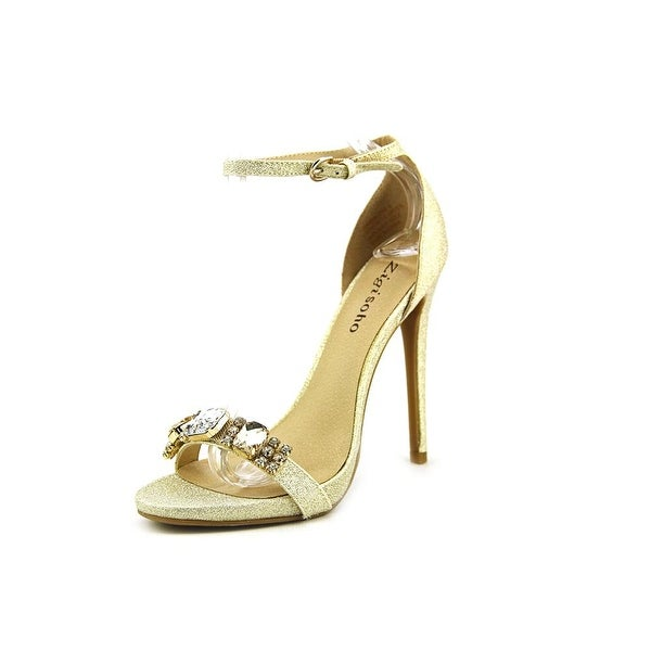 Zigi Soho Magdalena Women Open-Toe Synthetic Gold Heels