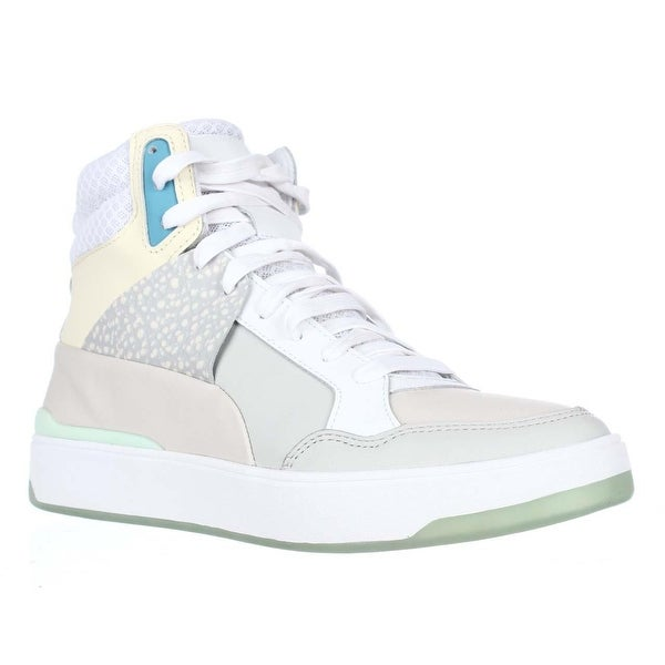 Puma Alexander Mqueen Brace High-Top Fasion Sneakers, White-Whisper White
