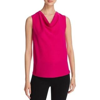 T Tahari Womens Shirts & Tops Cowl Neck Textured