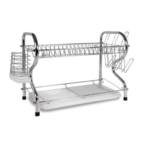 Better Chef 16-inch 2 Level Dish Rack - Silver