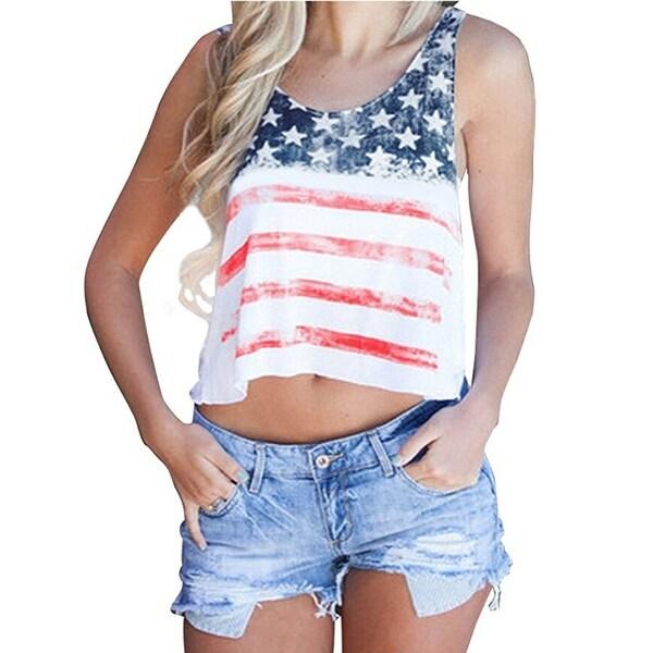 Flag of California T-Shirt Womens Casual Crop Tops Workout Top Shirts Distressed Crop T-Shirt