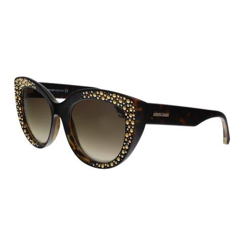 Roberto Cavalli RC1050 52G Chitignano Dark Havana Cat Eye Sunglasses - No Size