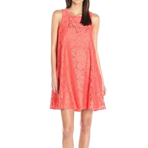 Donna Morgan Tea Rose Orange Women's Size 2 Lace Shift Dress