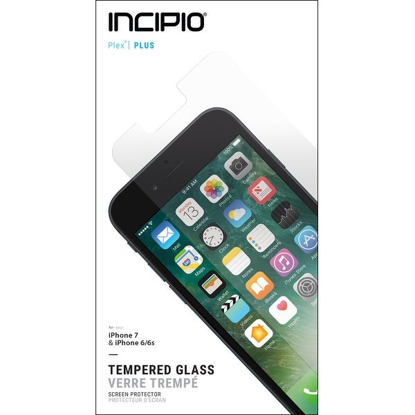 Incipio Plex Plus Tempered Glass Screen Protector for iPhone 8 & iPhone 6/6s/7