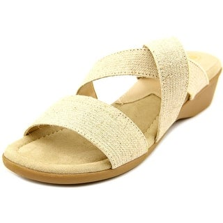 Mootsies Tootsies Nano Women Open Toe Canvas Ivory Wedge Heel