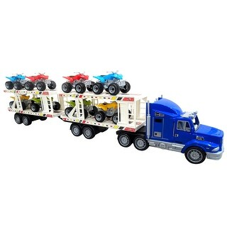 Envo Toys Mega Toy Truck Play Set With Trailer Large XL Size Blue