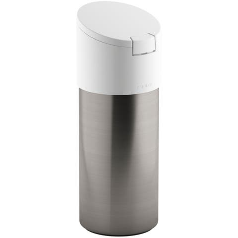 Kohler K-6382 Stainless Steel Clean Wipes Dispenser with Silicone Seal - White