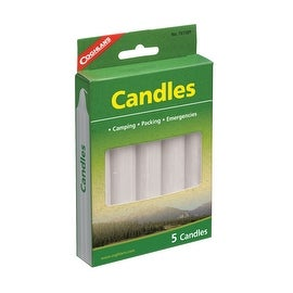 "Coghlan's 7615BP Candles, 5 Hr, 3/4"" x 5"", Carded/ 5"