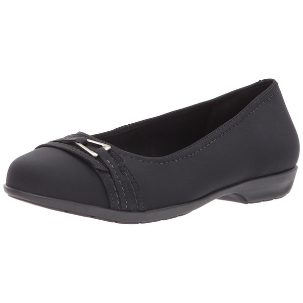 Walking Cradles Womens Flynn Closed Toe Loafers, Black Fabric, Size 8.0 - 8