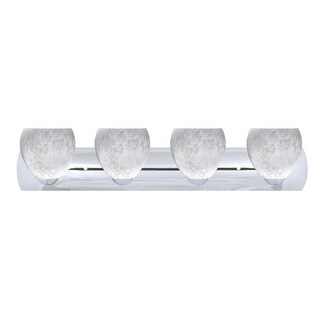 Besa Lighting 4WZ-412219 Bolla 4-Light Reversible Bathroom Vanity Light with Carrera Glass Shades - N/A