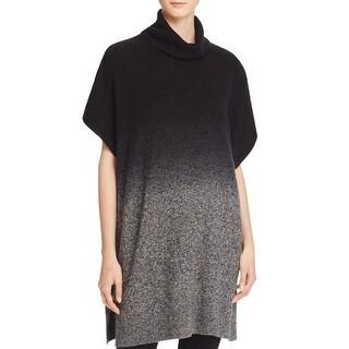 Private Label Womens Poncho Sweater Cashmere Ombre